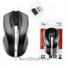 ART MOUSE WIRELESS OPTICAL AM-97 OFFICE 1000 DPI BLACK