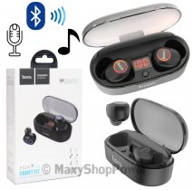 HOCO AURICOLARE BLUETOOTH 5.0 RQ5 UNIVERSALE IN-EAR BLU /PER ANDROD IOS IPHONE MICROSOFT