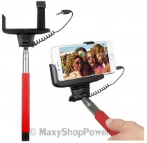 KITVISION ASTA SUPPORTO PER SELFIE /PER CELLULARI ANDROID / IOS RED