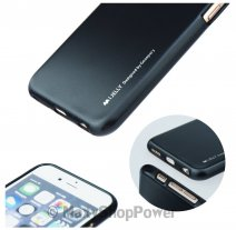 GOOSPERY CUSTODIA SILICONE I-JELLY MERCURY CASE PER APPLE IPHONE 5 - 5S - SE BLACK
