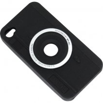 ITAKE CUSTODIA SILICONE  IPHONE 4S BLACK