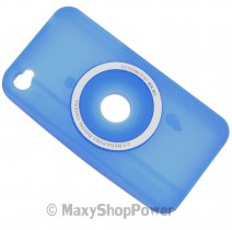 ITAKE CUSTODIA SILICONE  IPHONE 4S BLU