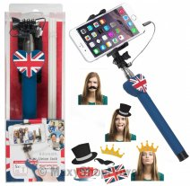 KITVISION ASTA SUPPORTO KVSSUJHBL SELFIE REGNO UNITO LONDON /PER CELLULARI ANDROID IPHONE BLU