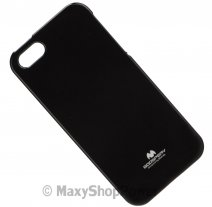 GOOSPERY CUSTODIA SILICONE JELLY TPU MERCURY CASE APPLE IPHONE 5 - 5S - SE BLACK