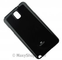 GOOSPERY CUSTODIA SILICONE JELLY TPU MERCURY CASE SAMSUNG GALAXY NOTE 3 N9000 - N9005 BLACK