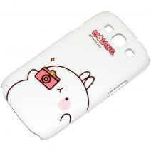 MOLANG CUSTODIA HARD COVER SAMSUNG GALAXY S3 I9300 / NEO I9301 WHITE
