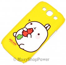 MOLANG CUSTODIA HARD COVER SAMSUNG GALAXY S3 I9300 / NEO I9301 YELLOW