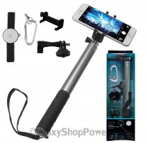 KITVISION ASTA SUPPORTO PER SELFIE EXTENSION POLE LARGE SET BLUETOOTH PER CELLULARI ANDROID / IOS GR