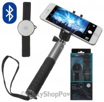 KITVISION ASTA SUPPORTO PER SELFIE EXTENSION POLE SMALL SET BLUETOOTH PER CELLULARI ANDROID / IOS NE