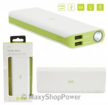 KIT POWER BANK BASIC BATTERIA EMERGENZA 12000 MAH WHITE /